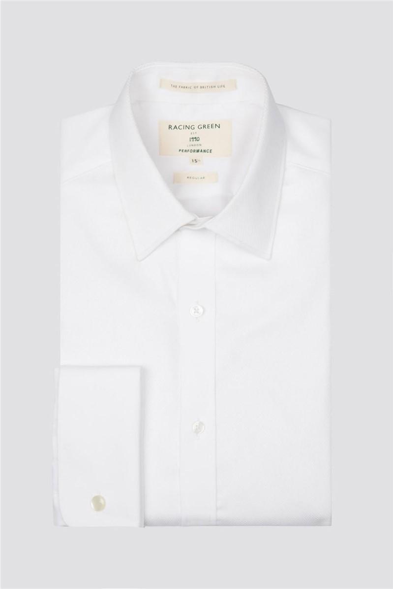 White Mason Performance Double Cuff Dress Shirt