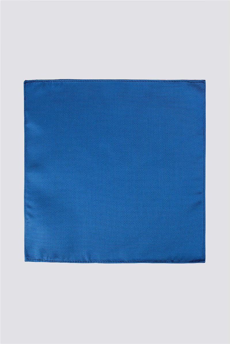 Plain Blue Pocket Square