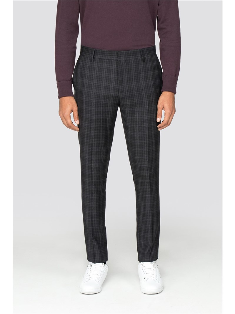 Grey Checked Trouser