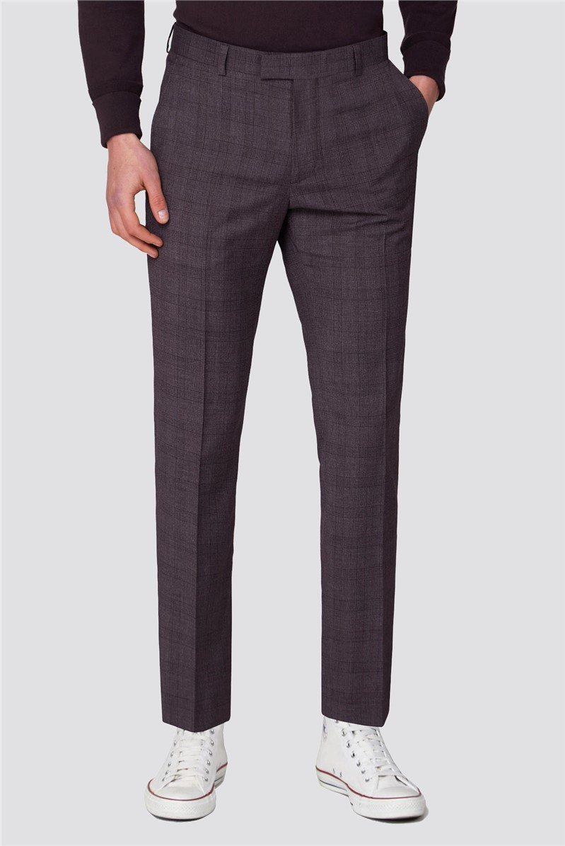 Rust Chambray Check Skinny Fit Suit