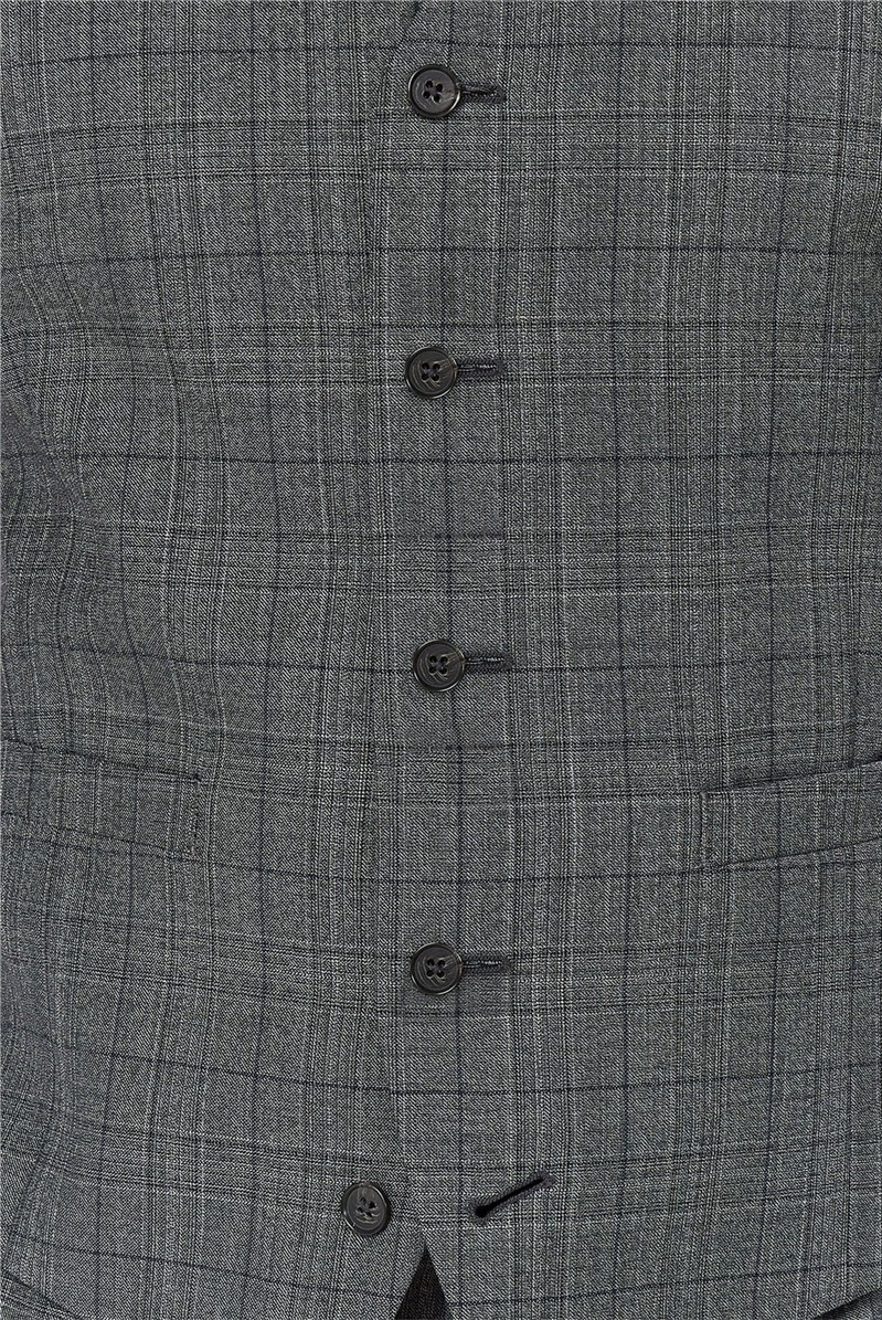 Grey Check Tailored Fit Suit