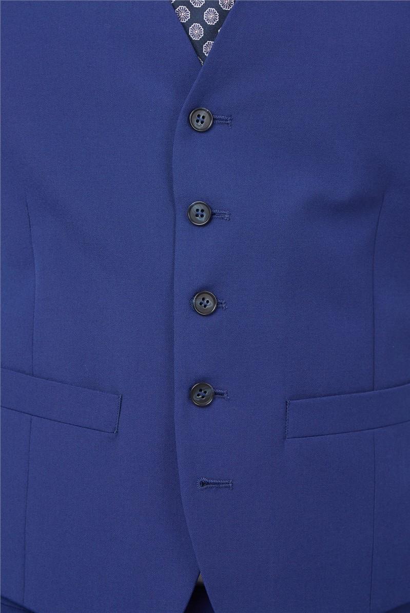 Cobalt Blue Slim Fit Waistcoat