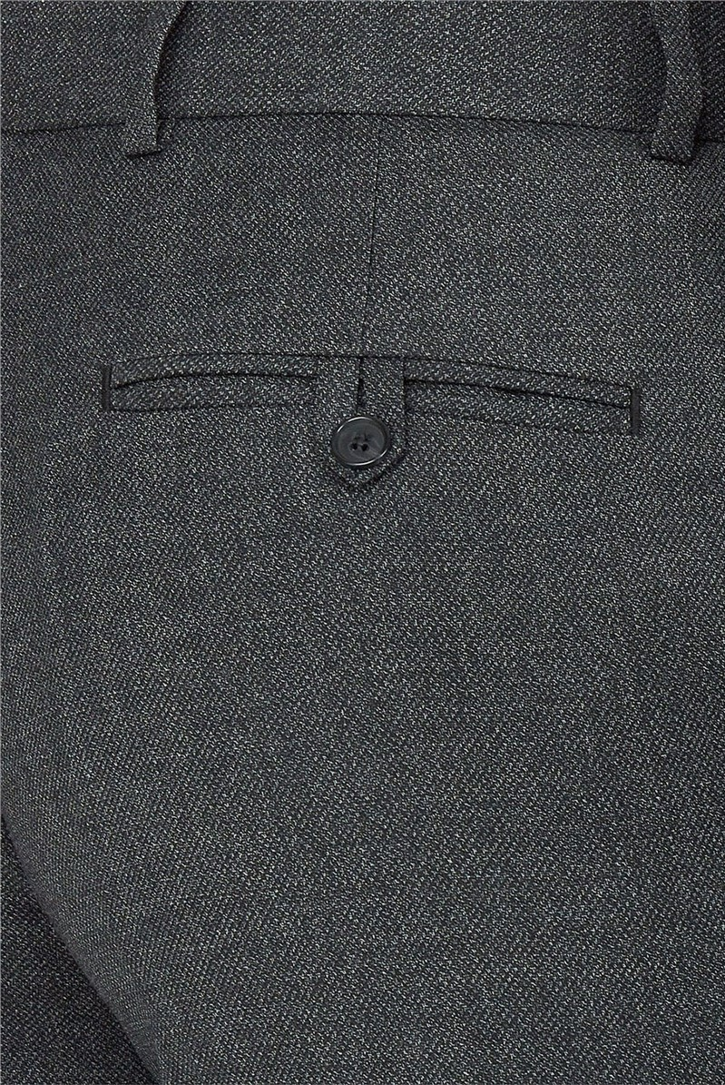 Charcoal Texture Performance Regular Fit Trousers