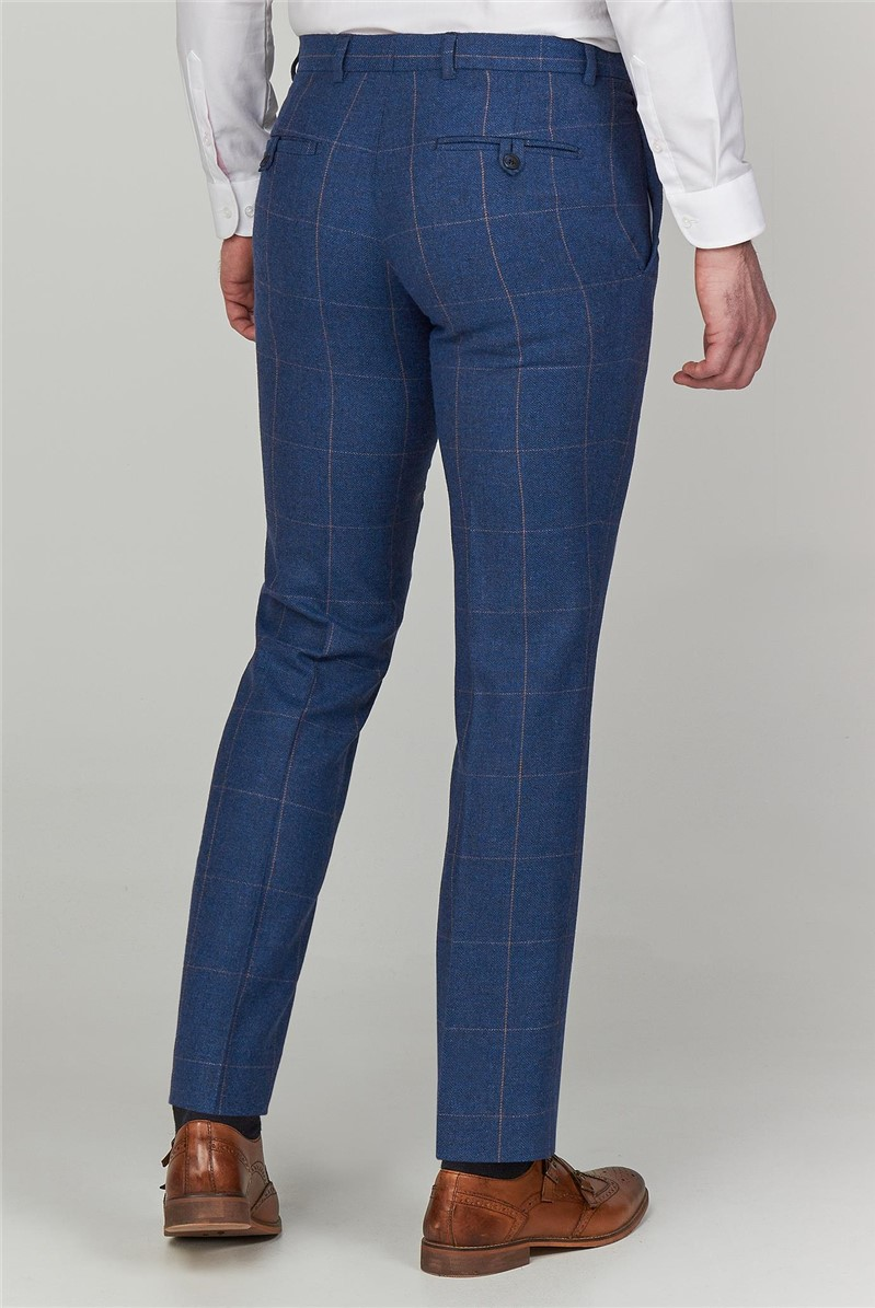 Blue Heritage Tweed Tailored Fit Trousers
