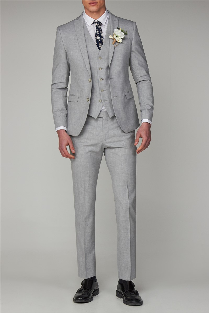 Cool Grey Melange Skinny Fit Suit