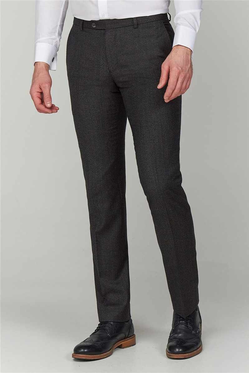 Charcoal Texture Tailored Fit Trouser