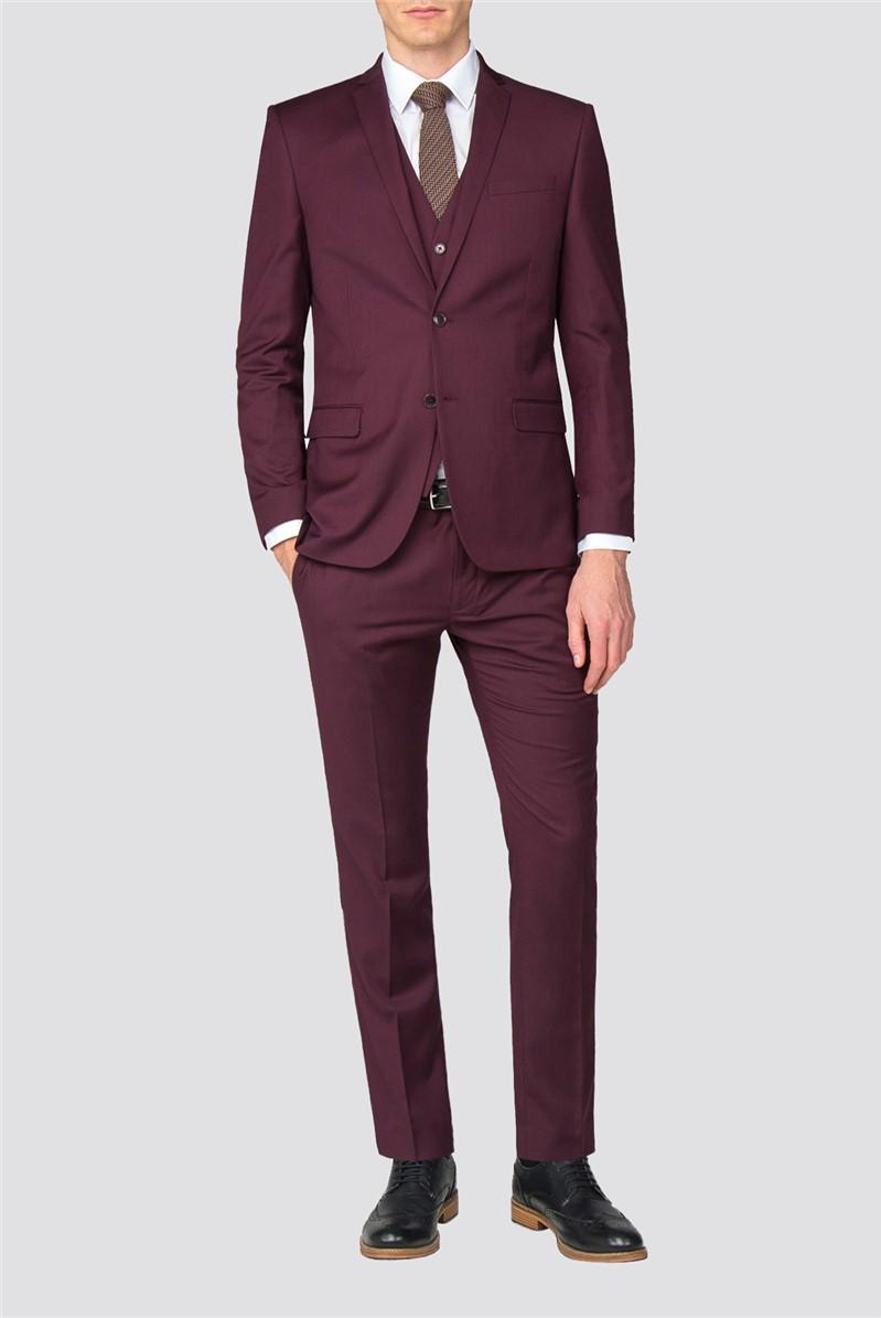 Burgundy Slim Fit Suit