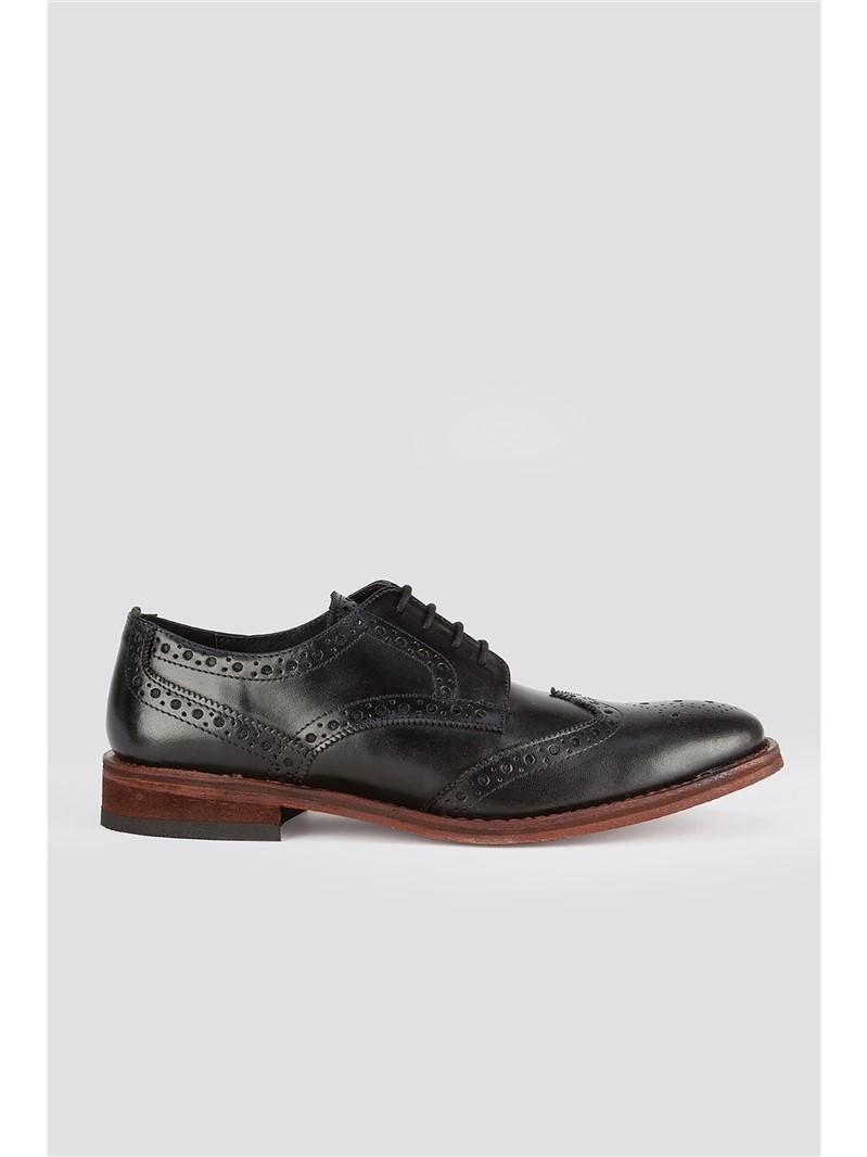 Black Leather Brogue