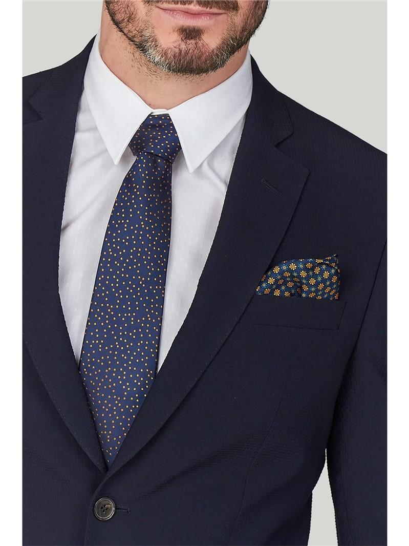 Stvdio Navy Seersucker Slim Fit Ivy League Suit