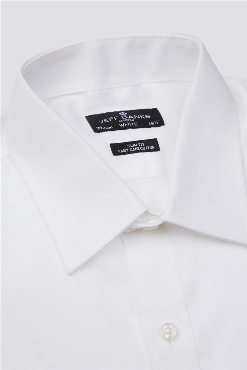 White Double Cuff Half Cutaway Slim Tuxedo Shirt
