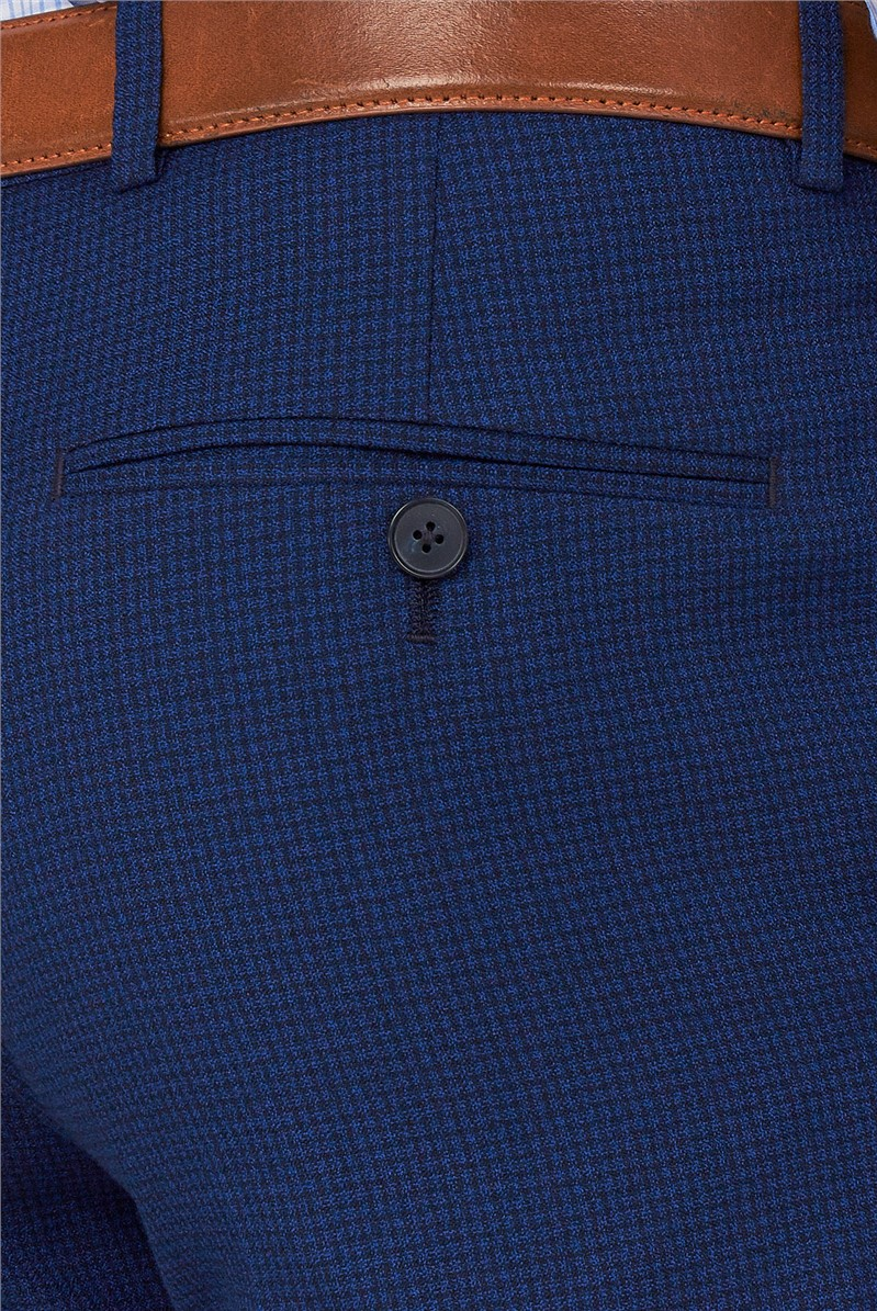 Branded Blue Semi-Plain Regular Fit Suit