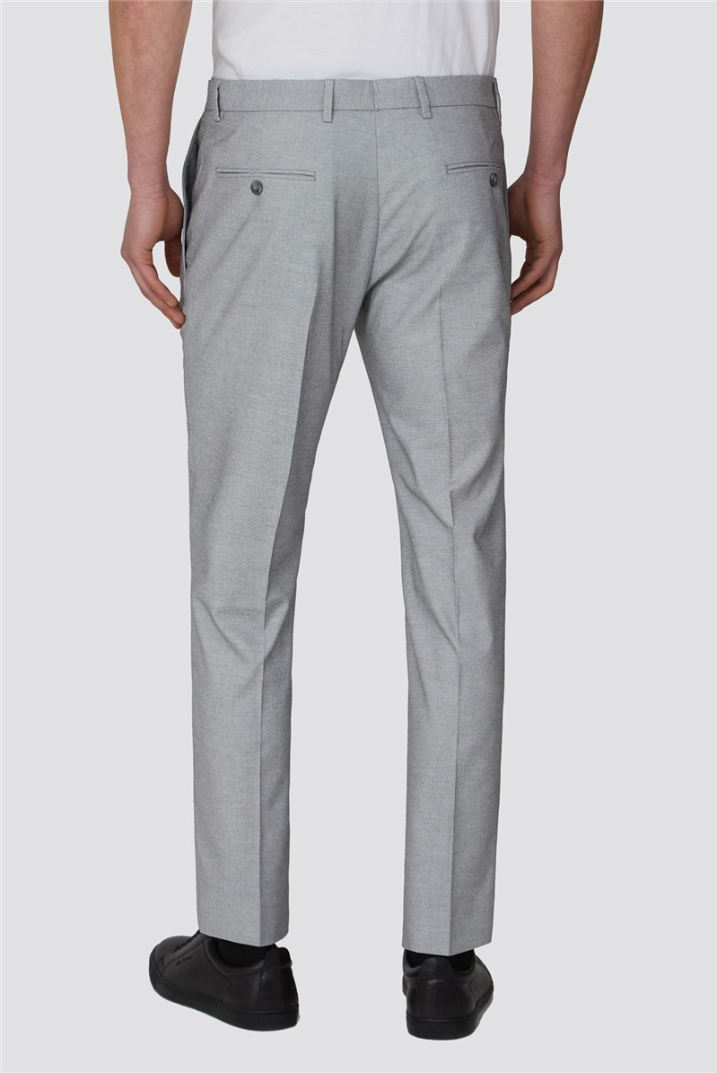 Branded Ice Grey Slim Fit Formal Trousers
