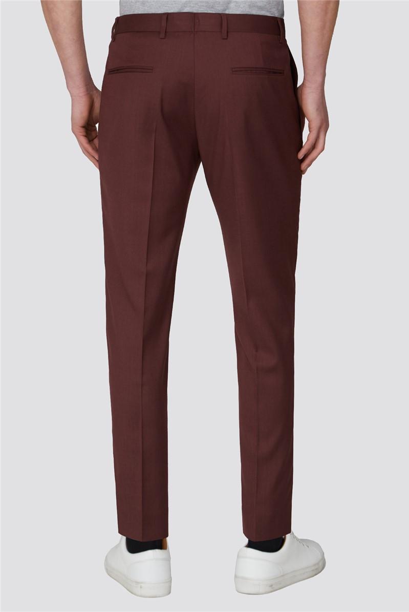 Teracotta Plain Slim Crop Trousers