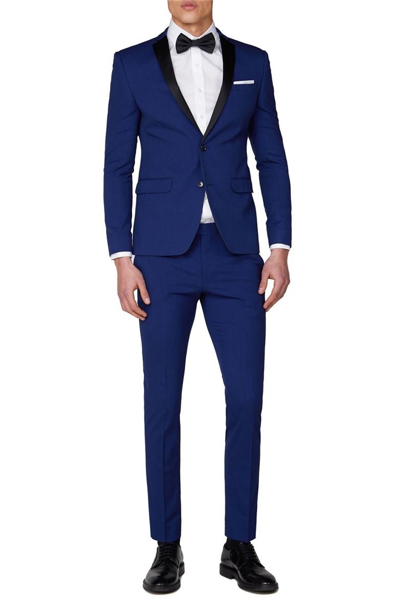 Branded Bright Blue Skinny Tuxedo Trousers