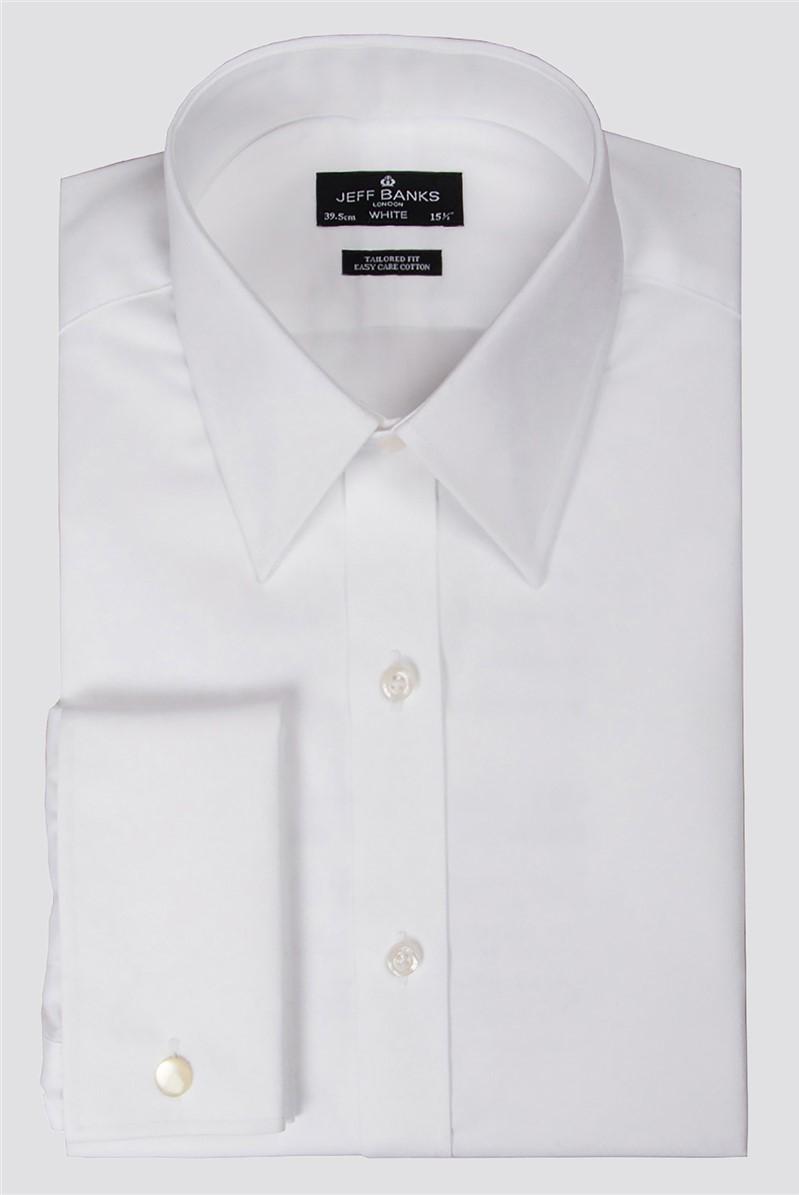 White Double Cuff Forward Point Shirt
