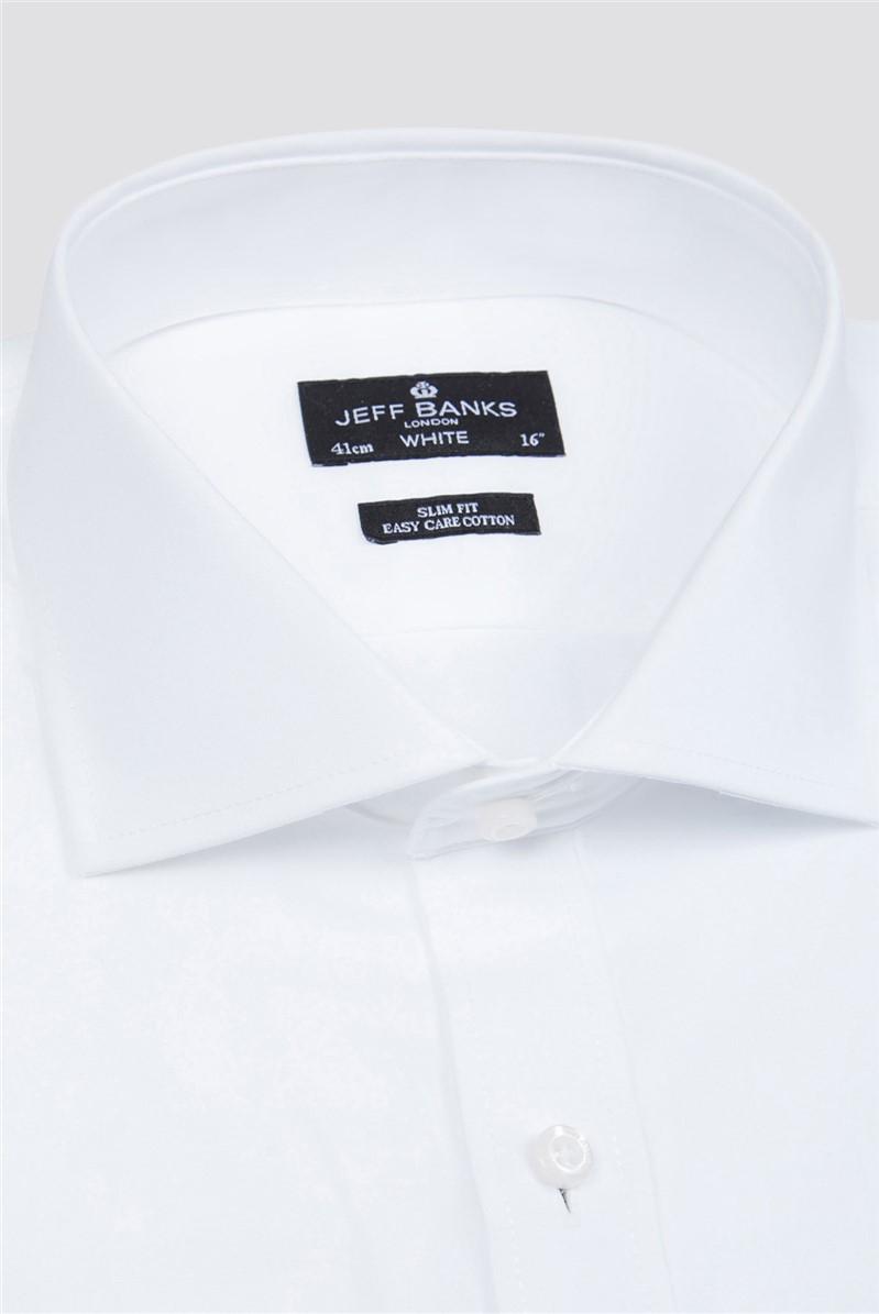 White Double Cuff Cutaway Slim Shirt
