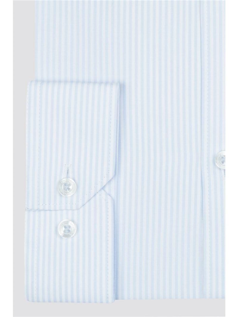 Pale Blue Stripe Slim Fit Shirt