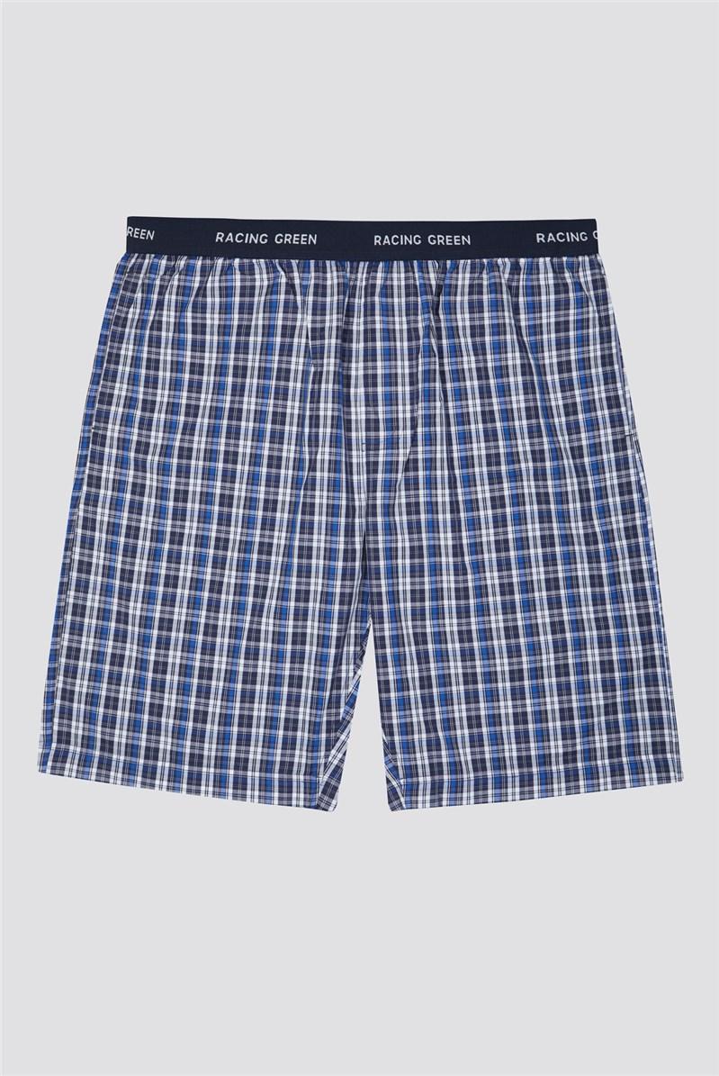 Cotton Poplin Check Loungewear Shorts