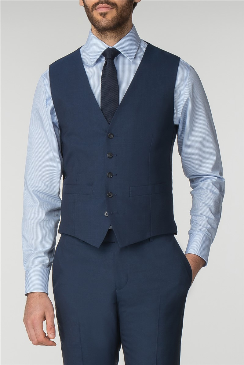 Bright Blue Panama Waistcoat