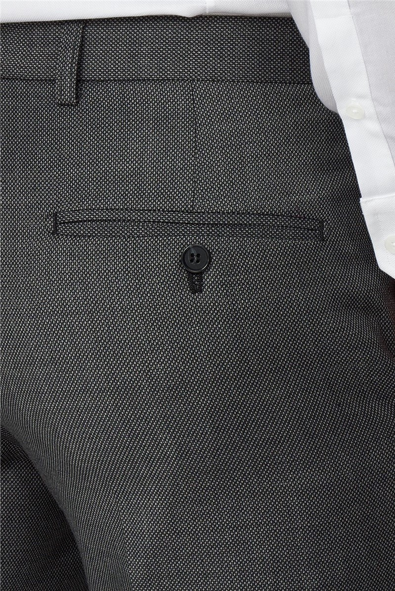 Charcoal Micro Formal Tailored Trousers