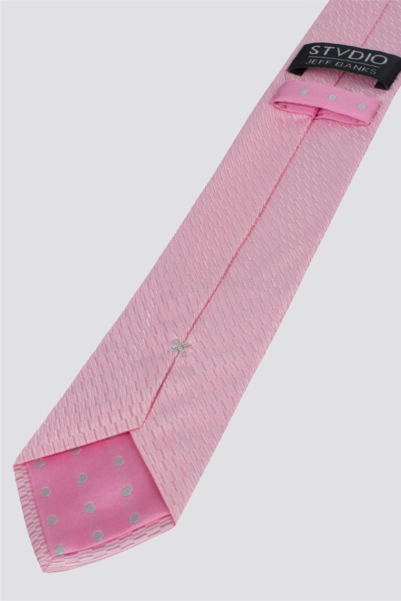 Stvdio by  Pink Irregular Textured Tie