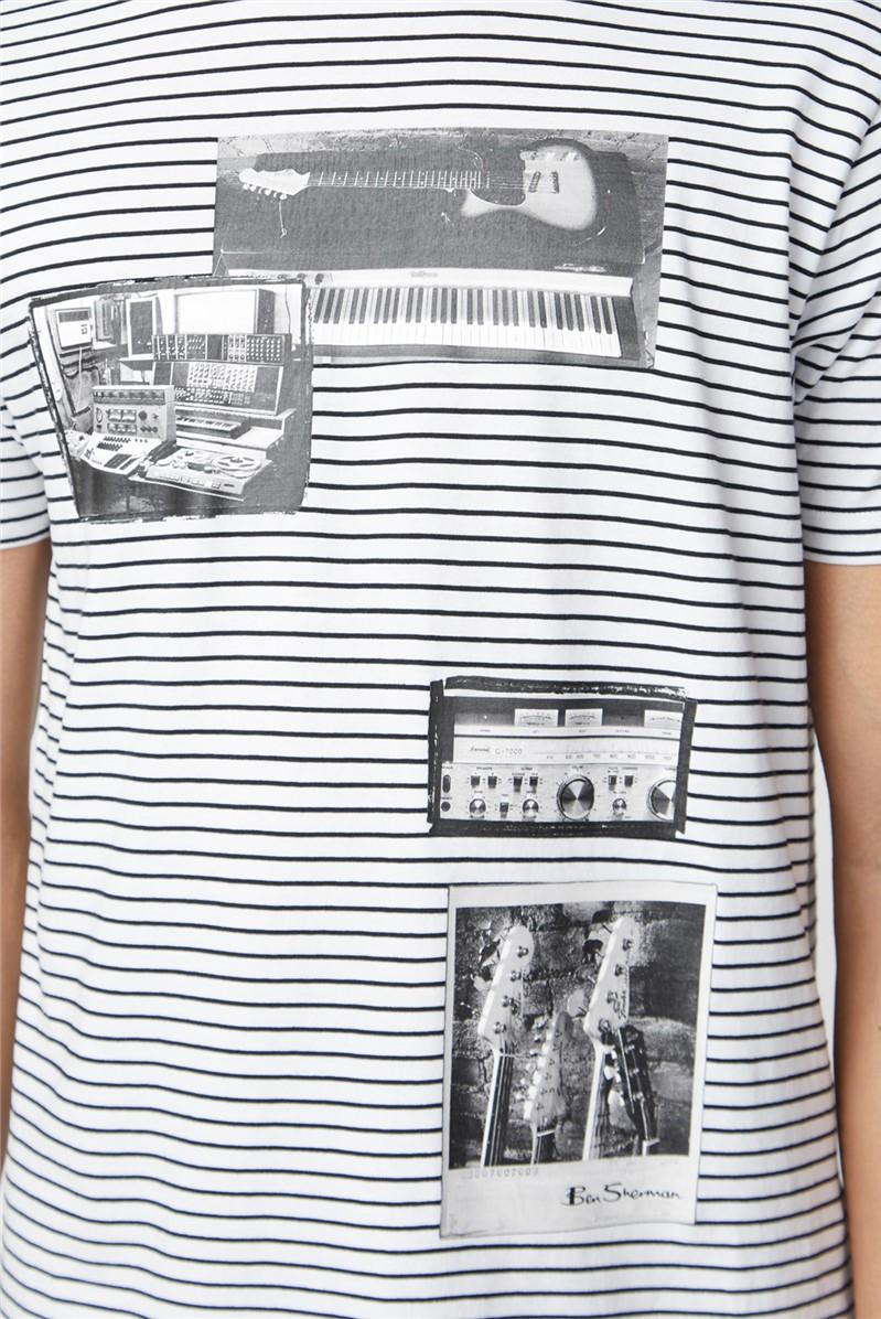 Studio Music On Stripe Tee