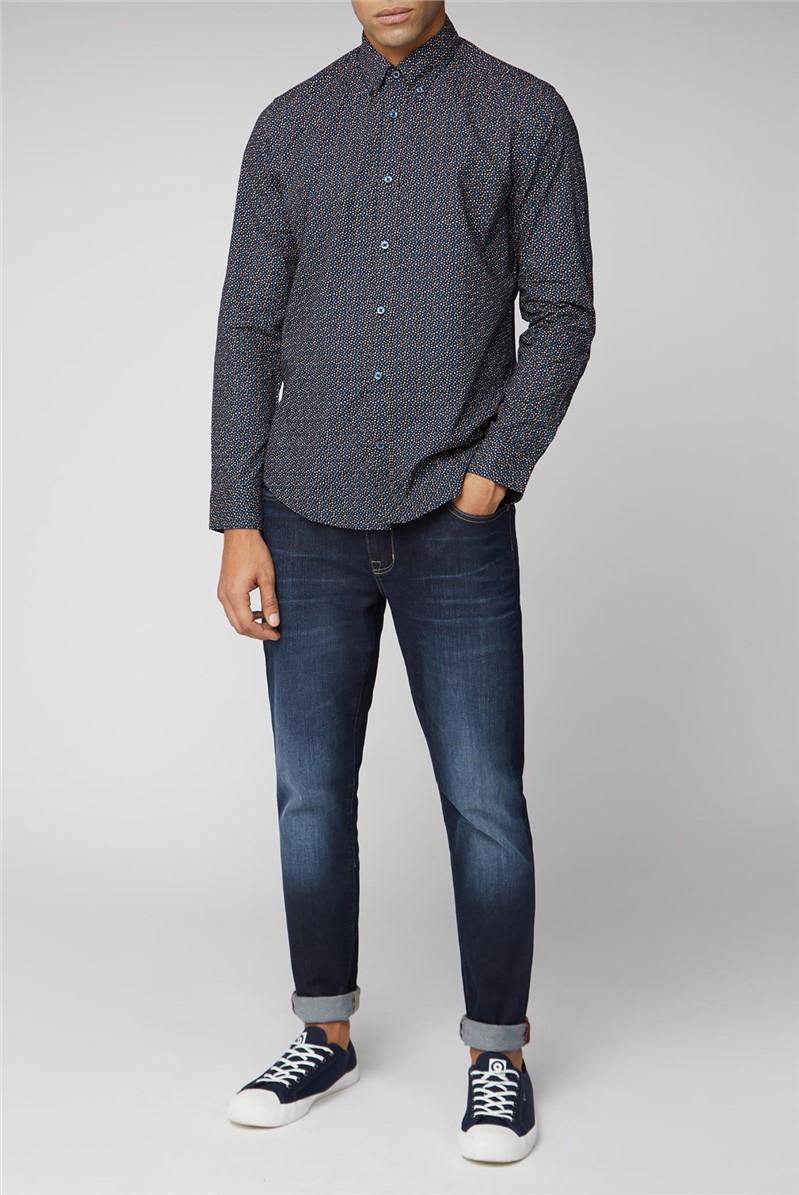 Long Sleeve Dark Printed Shirt