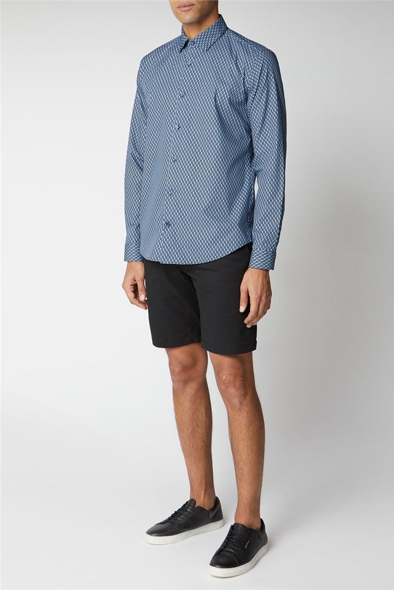 Fine Geo Print Shirt