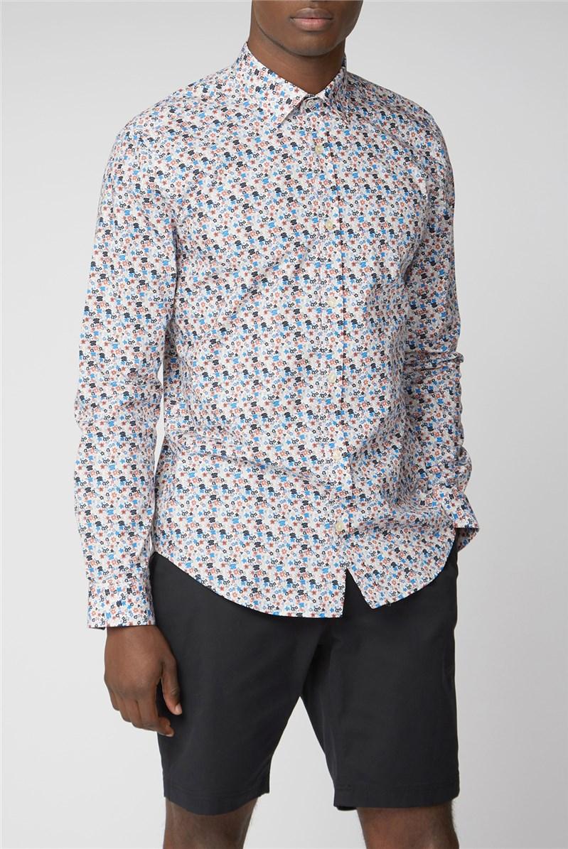 Multi Floral Blue Shirt