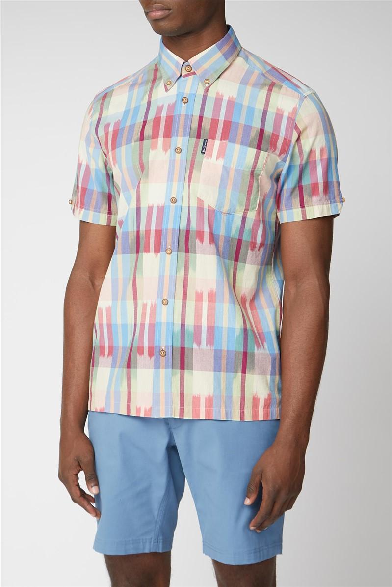 Ikat Check Shirt