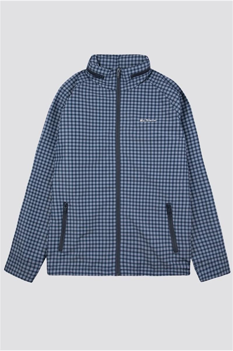 Navy Check Casual Jacket