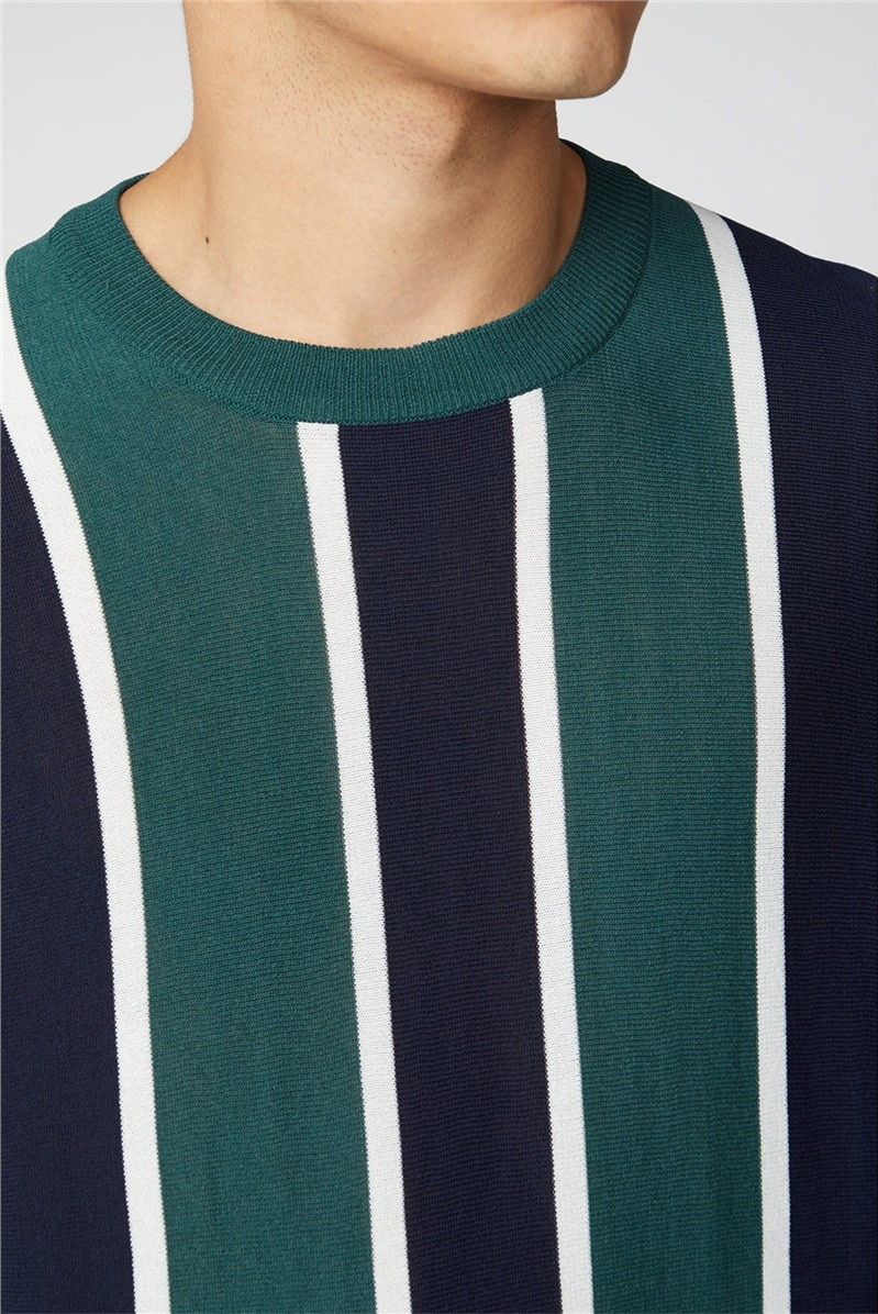 Knitted Vertical Stripe Tee