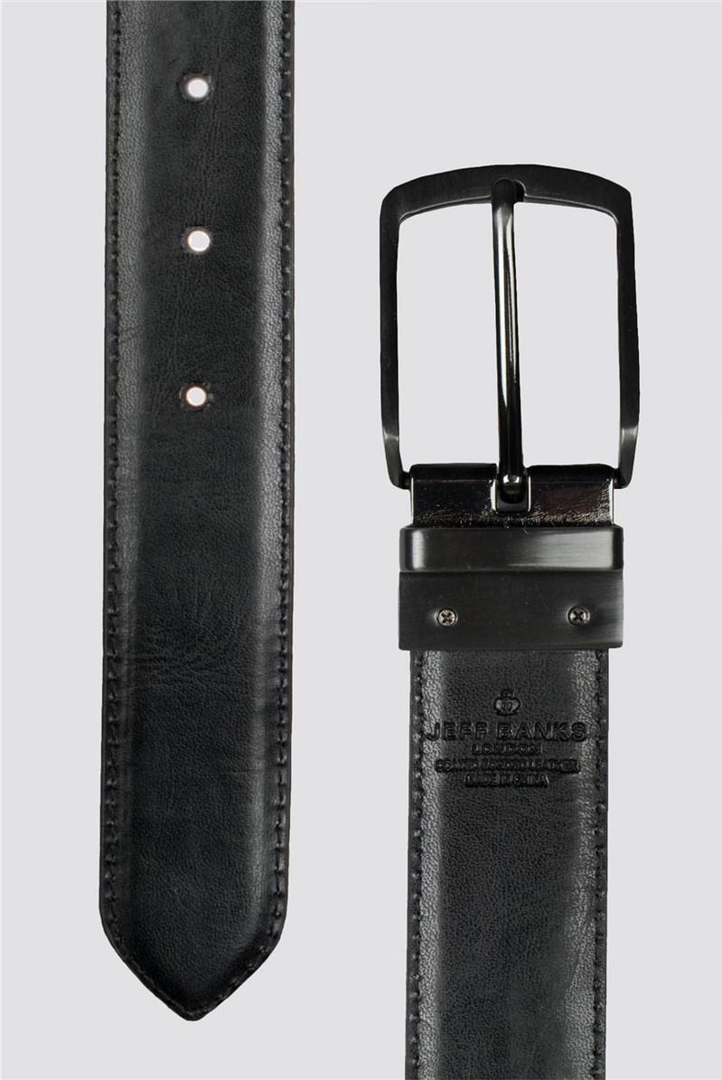 Tan Black Reversible Belt