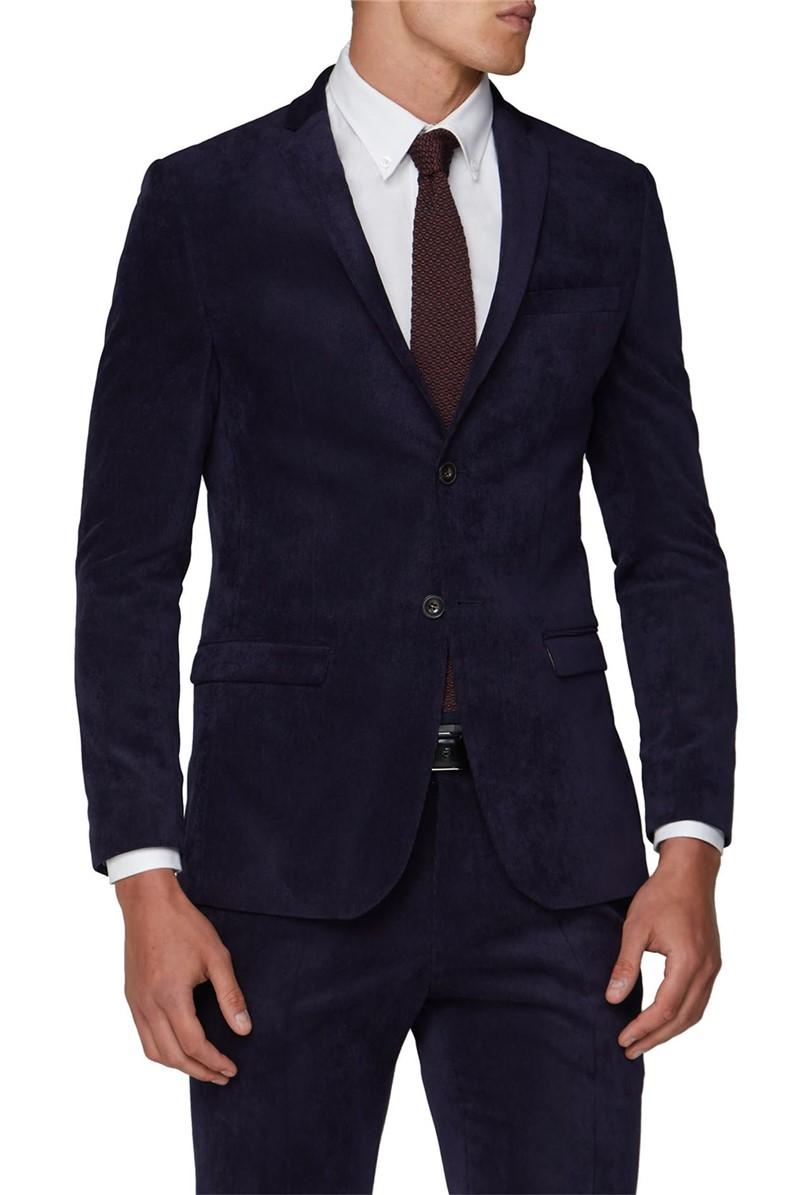 Navy Cord Slim Fit Suit
