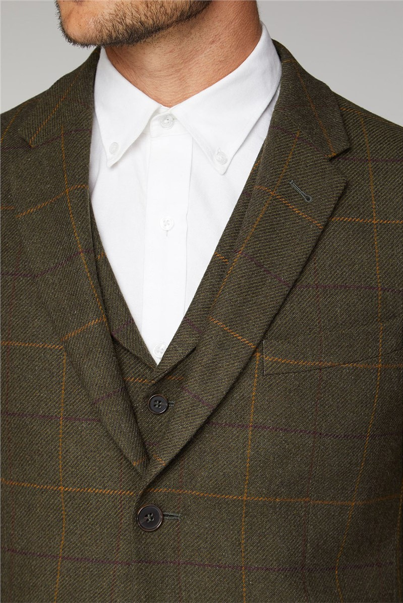 Heritage Check Tailored Fit Tweed Suit