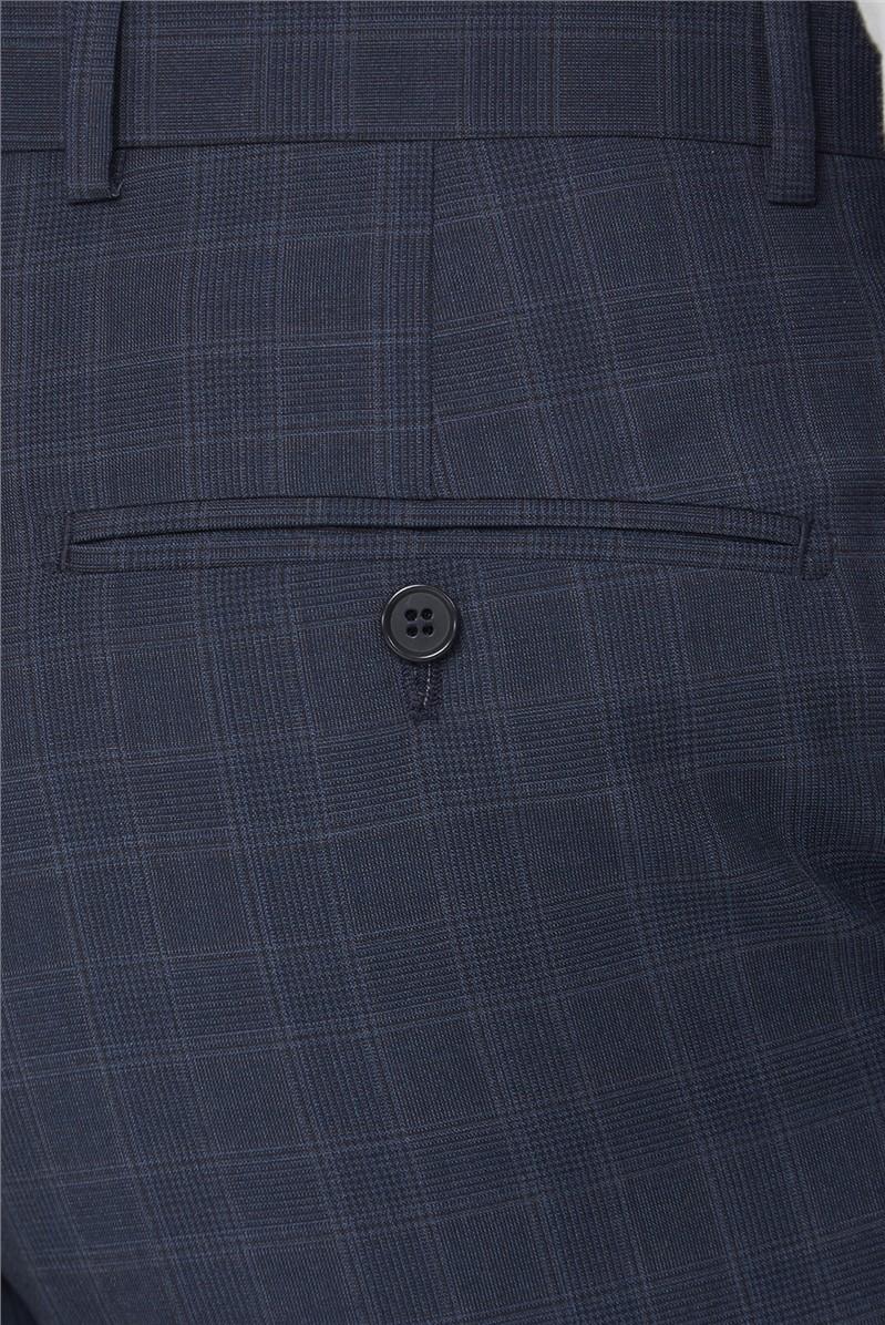 Mid Blue Tonal Check Waistcoat