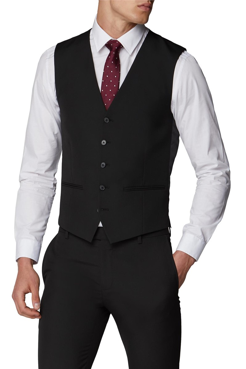 Plain Black Slim Fit Suit