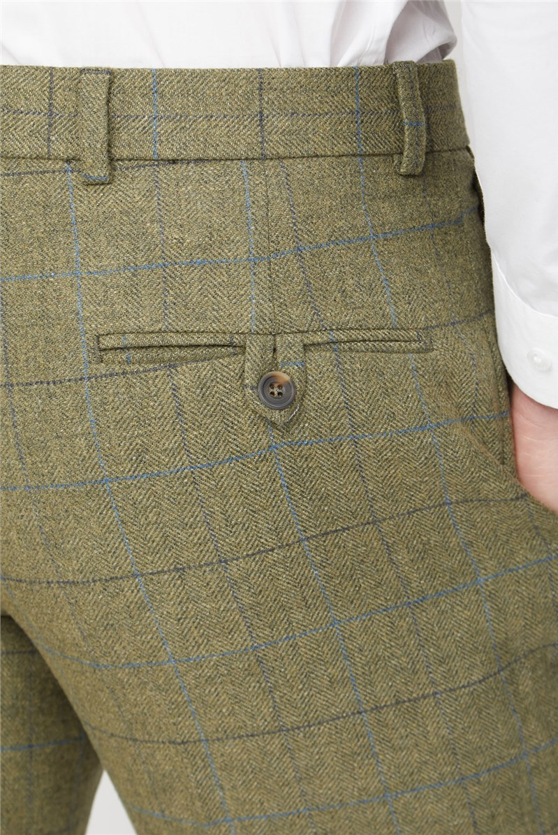 Green Heritage Check Trousers