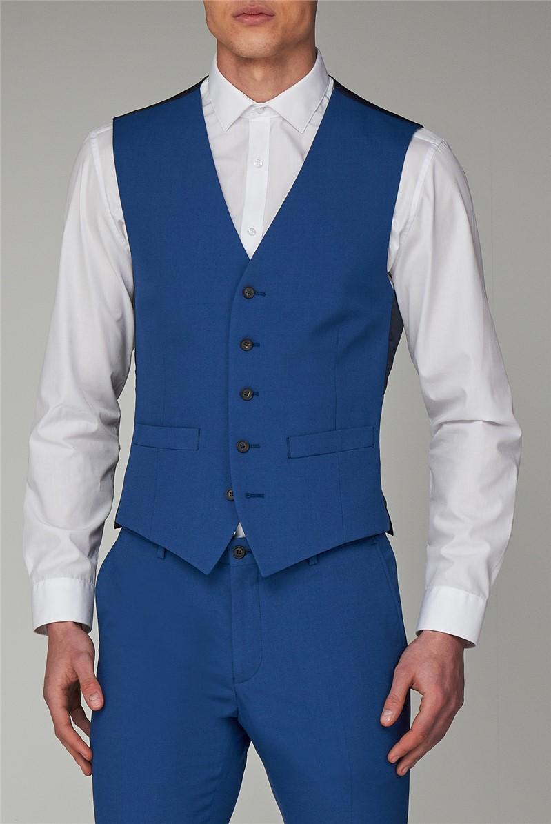 Bright Blue Skinny Fit Suit Jacket