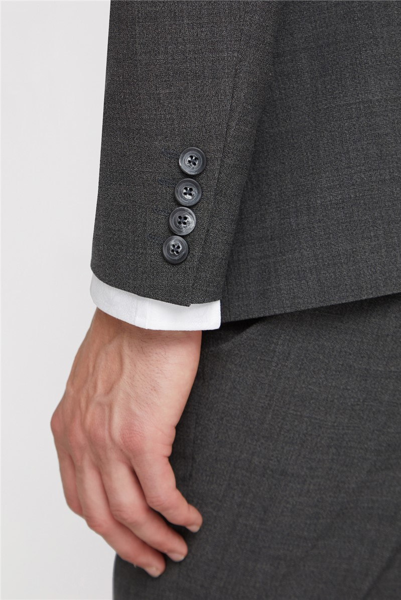 Grey Marl Texture Regular Fit Travel Suit Trousers