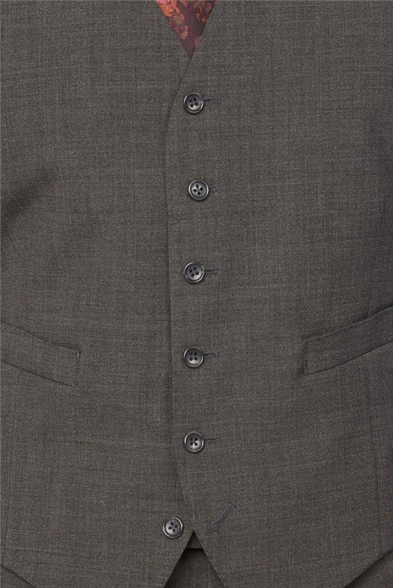 Grey Marl Texture Regular Fit Travel Suit