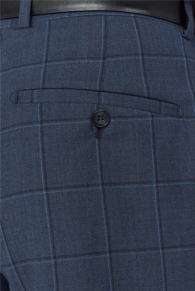 Airforce Windowpane Check Trouser