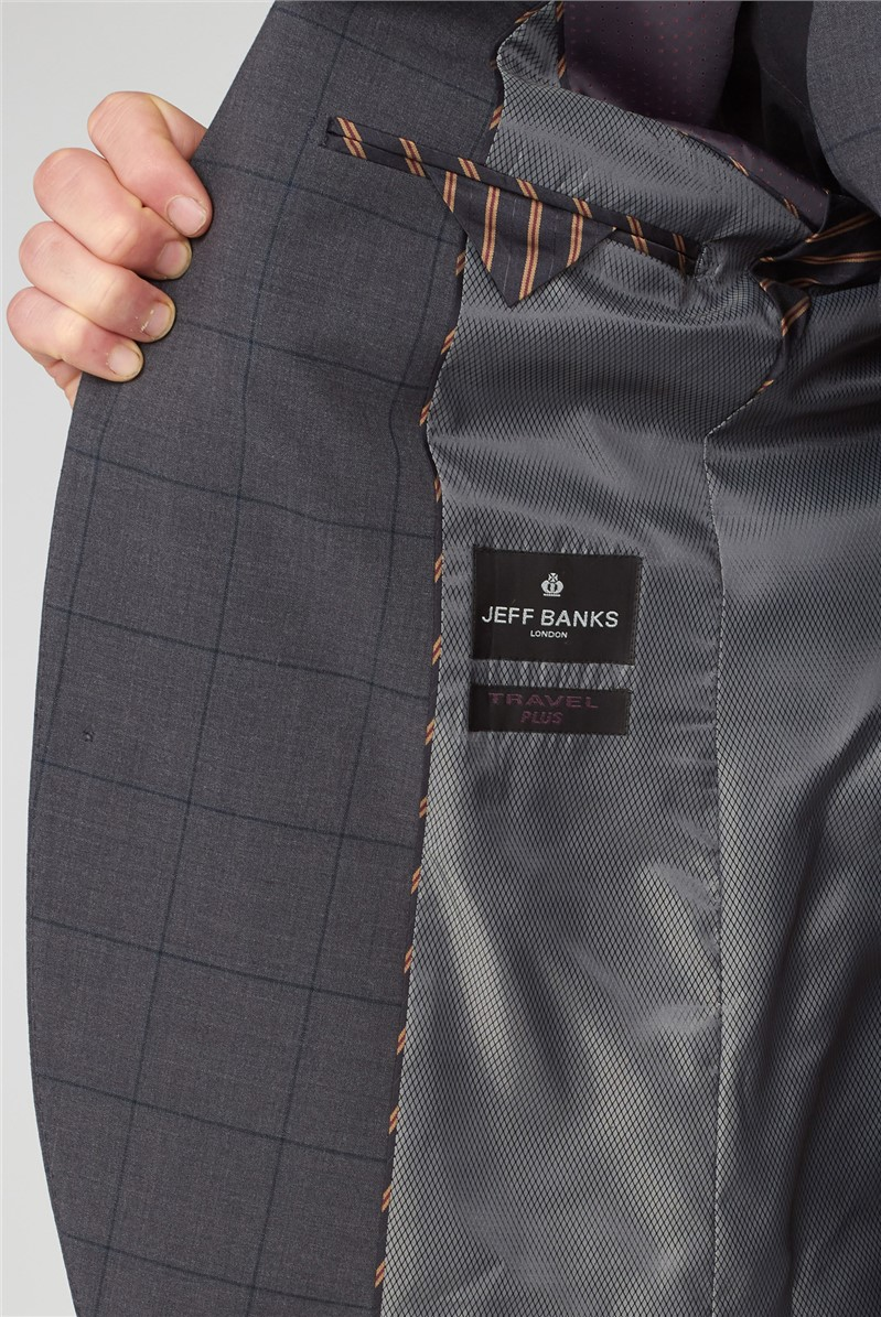 Charcoal & Green Window Check Travel Suit