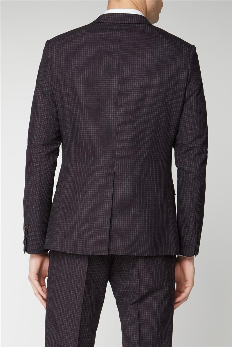 Mulberry Scratch Texture Super Slim Fit Brit Suit