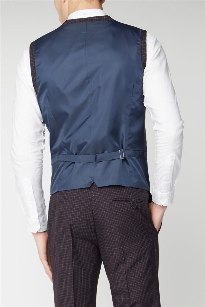 Stvdio Mullberry Scratch Texture Supler Slim Fit Brit Waistcoat