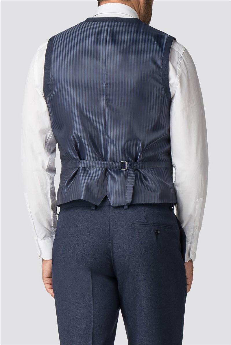 Bright Blue Texture Wool Blend Regular Fit Suit