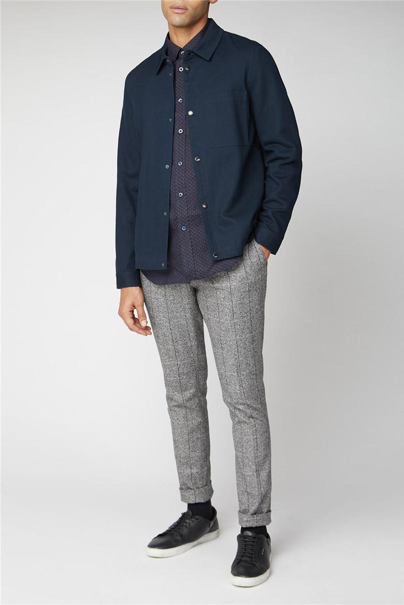Long Sleeve Floral Geo Print Shirt