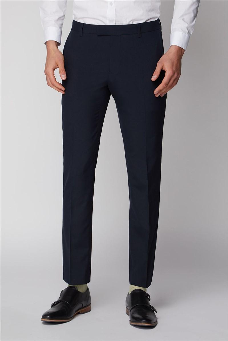 Navy Stretch Skinny Fit Suit Jacket
