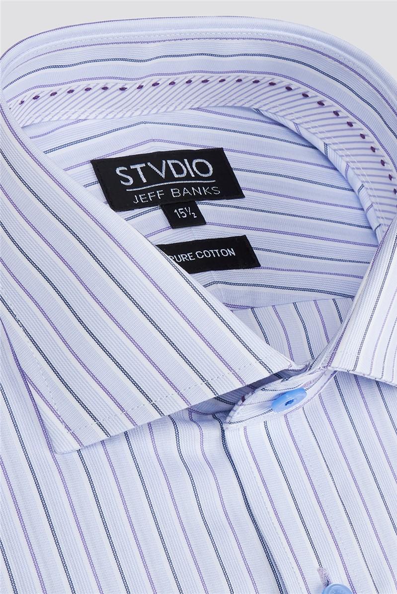 Stvdio Lilac End on End Stripe Shirt