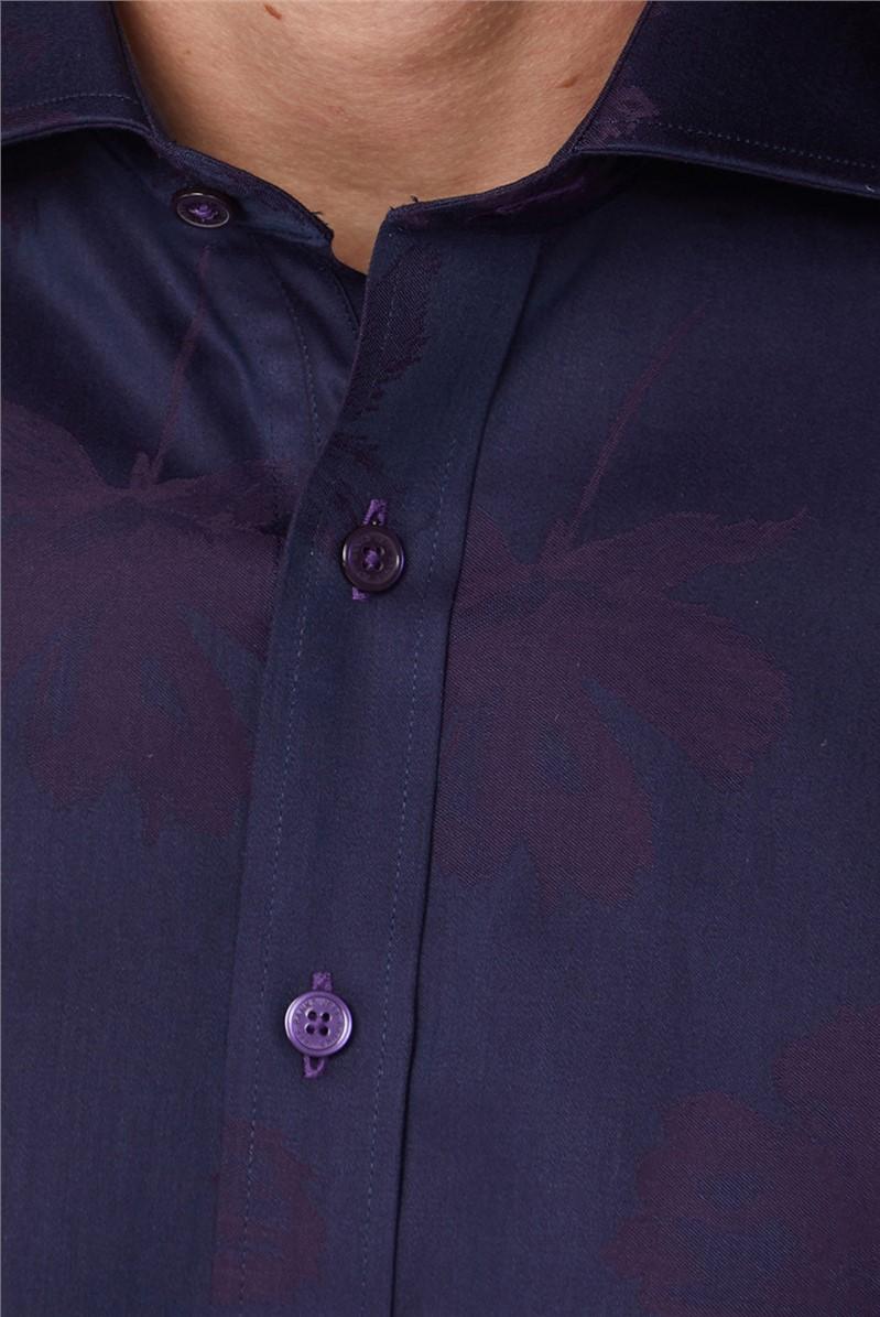 Stvdio Purple Jacquard Shirt